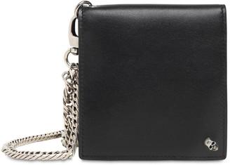 Alexander McQueen Skull Leather Wallet W/Chain