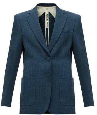 Petar Petrov Jaeda Single-breasted Barathea Suit Jacket - Blue