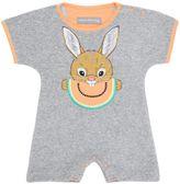 Rabbit Print Cotton Terrycloth Romper