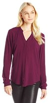 Velvet by Graham & Spencer Women's Rayon Challis V-Neck Blouse