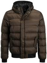 Scotch & Soda Quilted Hood Down Jacket Army