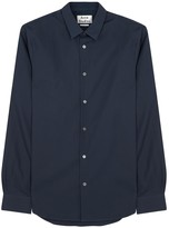 Acne Studios Sid Navy Cotton Poplin Shirt