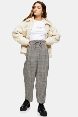 Topshop PETITE Black and White Check Sweatpants