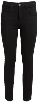 Veronica Beard Emma Satin Tuxedo-Stripe Skinny Jeans