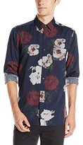 French Connection Men's Pixel Peonie Oxford Button Down Shirt