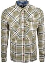 Pretty Green Waverton Check Shirt Khaki