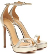 Alexandre Birman Cindy metallic leather sandals