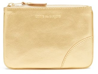 Comme des Garcons Zipped Mini Leather Coin Purse - Gold