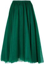 Rochas mid length draped skirt