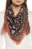 Madewell Women's Bordered Floral Wool Scarf