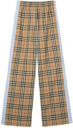 Burberry Vintage Check Stretch Cotton Trousers