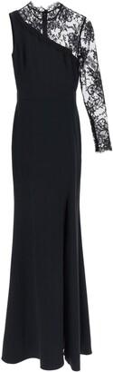 Alexander McQueen Lace One-Sleeve Maxi Dress