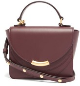 Wandler Luna Mini Leather Cross-body Bag - Womens - Burgundy