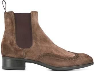 Santoni low heel chelsea boots