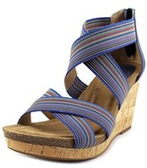 Sofft Cary Open Toe Canvas Wedge Sandal.