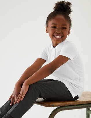 Marks and Spencer 2pk Girls' Slim Fit School Polo Shirts