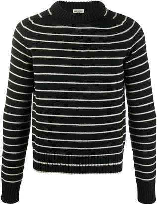 Saint Laurent Striped Virgin Wool Jumper