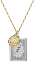 Miansai 14K Yellow Gold & Sterling Silver Bird Frame Pendant Necklace