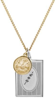 Miansai 14K Yellow Gold & Sterling Silver Bird Frame Pendant Necklace