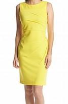 Calvin Klein Canary Yellow Starburst Women's Size 10 Sheath Dress