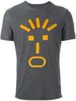 Fendi face appliqué T-shirt - men - Cotton/Viscose - 46