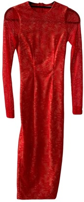 Alessandra Rich Red Polyester Dresses