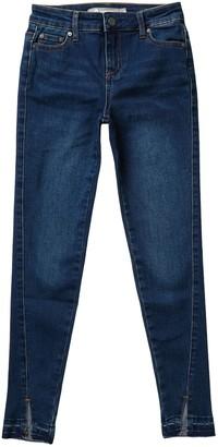 Tractr Release Hem & Slit Skinny Crop Jeans (Big Girls)