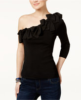 INC International Concepts One-Shoulder Bow Sweater, Only at Macy's