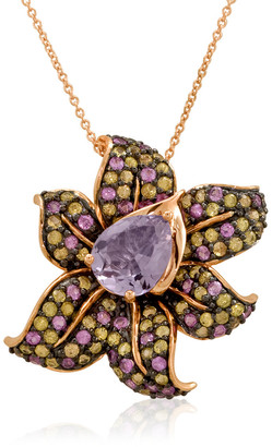 LeVian Le Vian 14K Strawberry Gold 4.00 Ct. Tw. Gemstone Pendant Necklace