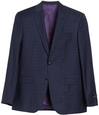 Ted Baker Blue Check Plaid Two Button Notch Lapel Suit