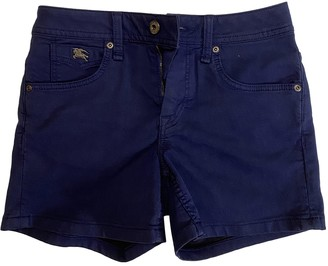 Burberry Navy Cotton - elasthane Shorts