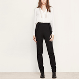 Maje High-waisted trousers with thin braces