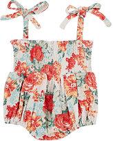 Baby CZ Floral-Print Cotton-Blend Romper
