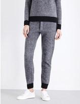 Joseph Chevron-pattern wool jogging bottoms