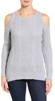 MICHAEL Michael Kors Women's Cold Shoulder Cable Sweater