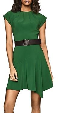 Reiss Belle Cap-Sleeve Asymmetric Dress