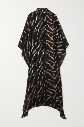 Taller Marmo Bizet Fil Coupe Silk-blend Chiffon Kaftan - Black