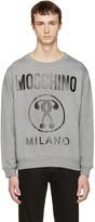 Moschino Grey Logo Pullover