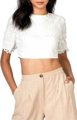 Lost + Wander Angel in Disguise Lace Crop Top