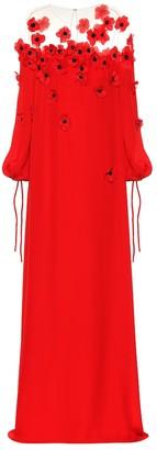 Oscar de la Renta Silk crepe gown