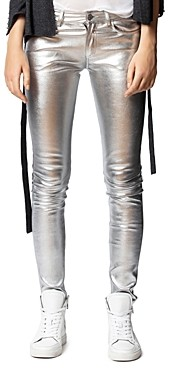 Zadig & Voltaire Phlame Leather Skinny Pants