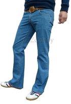 Fuzzdandy - Mens Blue Bootcut Flared Jeans 30 32 34 36 (30 Waist 32 Leg)