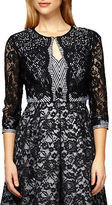 Kay Unger Lace and Striped Tweed Jacket