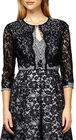 Kay Unger-kay unger lace and striped tweed jacket