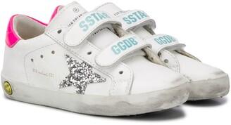 Golden Goose Kids Superstar strapped sneakers