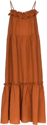 Araks Yasmin tiered maxi dress