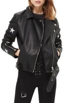 Topshop Women's Soul Faux Leather Biker Jacket