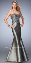 La Femme Beaded Taffeta Sweetheart Prom Dress