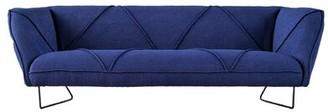 "Brayden Studioâ® Philon 91"" Tuxedo Arms Sofa Brayden StudioA Fabric: Blue"