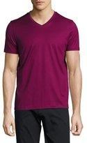 BOSS Cotton V-Neck T-Shirt, Red
